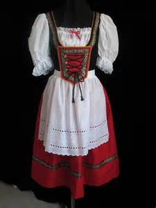 Bavarian German Oktoberfest Red Dress
