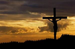 Jesus Christ Crucifixion On Good Friday Silhouette ...