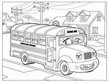 Coloring Pages Bus Sally Colouring Printable sketch template