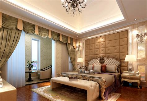 Luxurious Master Bedrooms Photos Luxurious Bedroom Tv Wall Rendering 3d House Free 3d