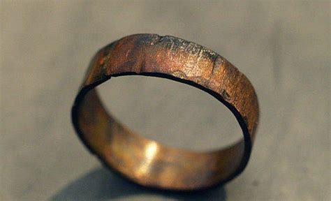 custom copper ring band for men women from theliftjewelryshop