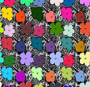 Andy Warhol - Wallpaper: Flowers-Full Spectrum at 1stdibs