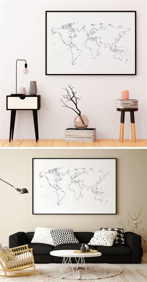 world map designs  decorate  plain wall