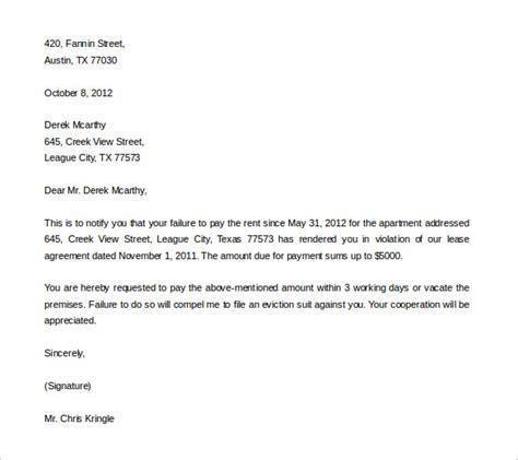 eviction letter template    premium