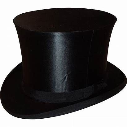 Hat Silk Hats Antique Collapsible Lane Ruby
