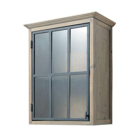 meuble haut cuisine bois meuble haut vitré de cuisine ouverture droite en bois