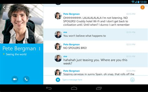 skype  im video calls apk  android app