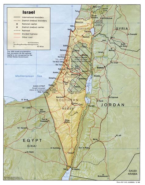 maps  israel map library maps   world