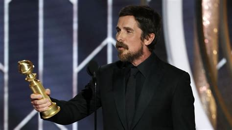 Christian Bale Wins Golden Globe For Best Actor Thanks