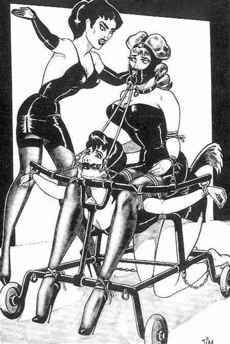 Mistress Rolling Bondage Frame Fetish Artists
