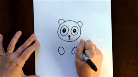 art lesson  kids   draw  cartoon panda bear