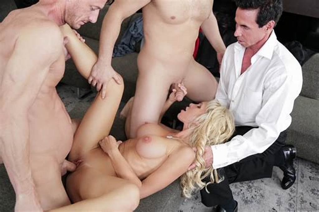 #Blonde #Milf #Nadia #North #Is #Blindfolded #Before #The #Gangbang