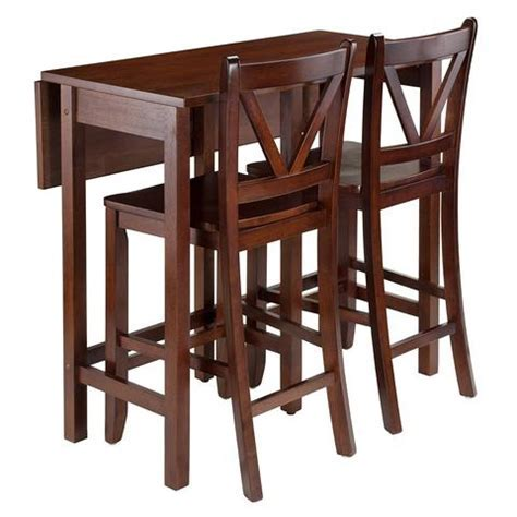 Winsome Wood 94355 Lynnwood 3 Pc Drop Leaf Table with 2