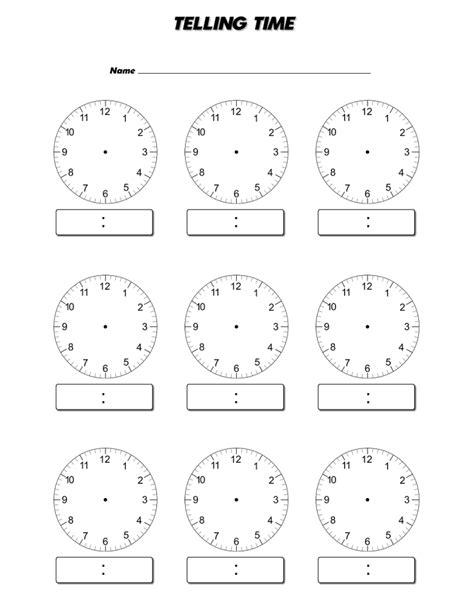 blank clock face worksheet davezan printable clock