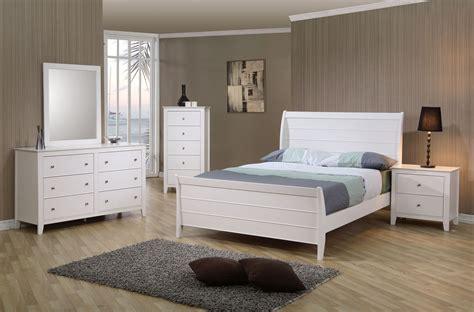 coaster selena youth pc sleigh bedroom set  white