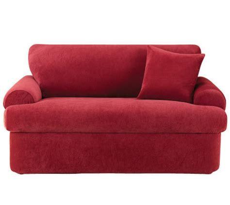 Sure Fit Stretch Pique 3 Piece T Cushion Love Seat