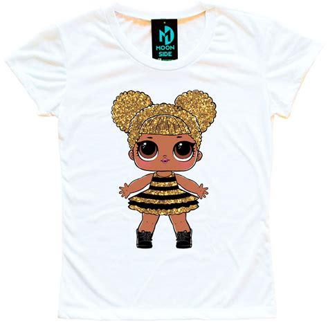 camiseta boneca lol surprise queen bee adulto moon