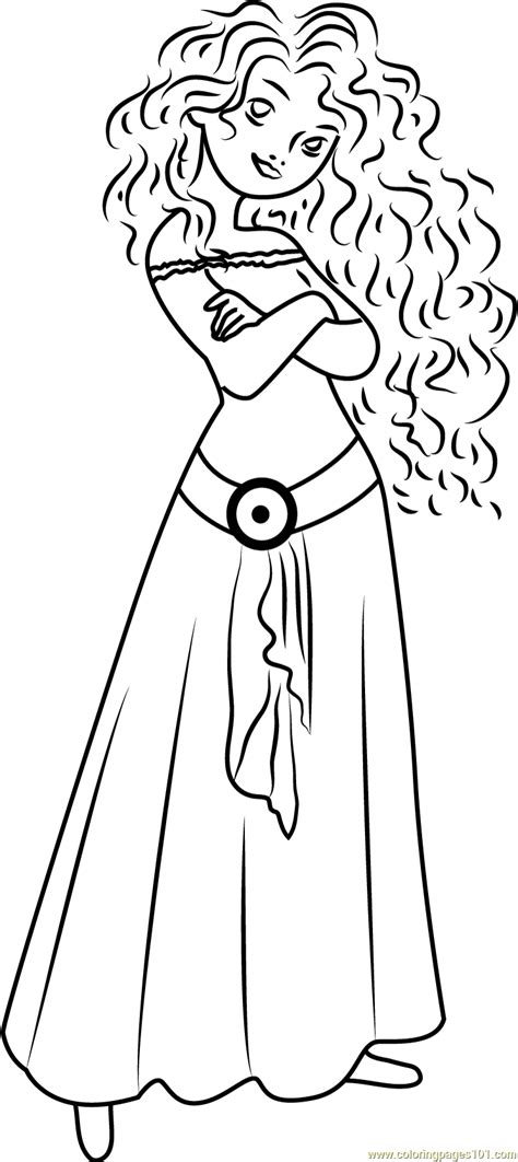 cute merida coloring page  brave coloring pages coloringpagescom