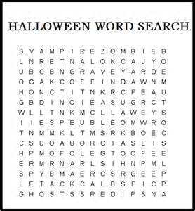 Halloween Coloring Pages and Word Searches