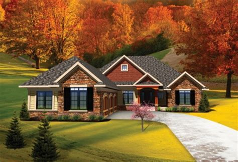 ranch style homes with 3 car garage ranch style house plan 3 beds 2 5 baths 2065 sq ft plan