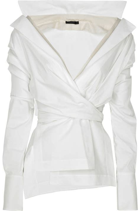 white blouse sleeve 25 best ideas about wrap blouse on