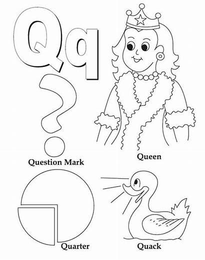 Coloring Mark Question Quack Pages Letter Pattern