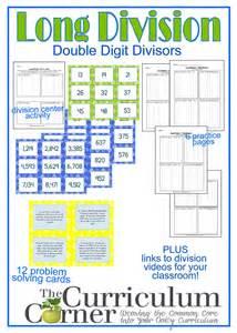 a division problem division resources 2 digit divisor the curriculum corner 4 5 6