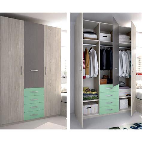 armarios de 3 puertas armario de tres puertas y cajonera espacioso de calidad