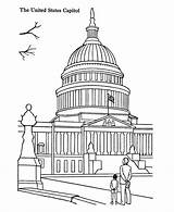 Coloring Capitol Building Pages Buildings Printables Outline Colouring Clipart Usa Printable Sheets American Sheet Landmarks Famous History Adult States Washington sketch template