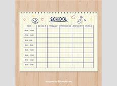 きれいなペーパースタイルの学校時間割テンプレート ベクター画像 無料ダウンロード