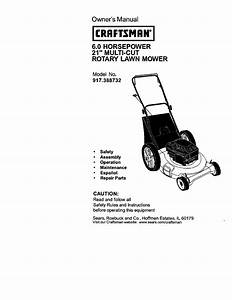 Craftsman Lawn Mower 917 388732 User Guide
