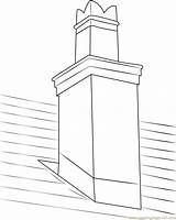 Chimney Coloring Mono Coloringpages101 Fireplace Printable sketch template
