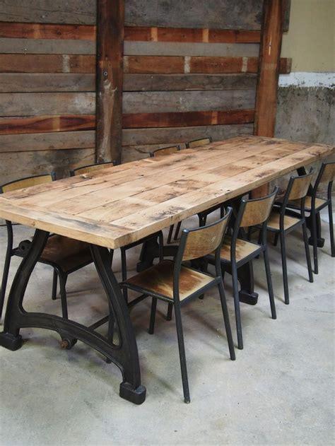 grande table cuisine les 25 meilleures idées de la catégorie table industrielle