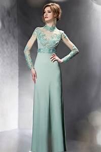 Haut Habillé Pour Soirée : robe longue transparente au haut orn e avec fleurs pour soir e ~ Melissatoandfro.com Idées de Décoration
