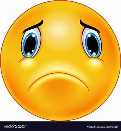 Sad Face Emoticon Vectorstock Vector Emoji Smiley