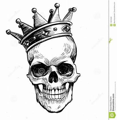 Skull Crown Drawing Sketch Tattoo Illustration Drawings