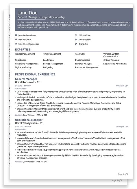 How To Write A Professional Cv Template by Best Winning Cv Templates For 2018 Edit