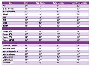 Tutu Top Size Chart Google Search Tutu Dress Kids