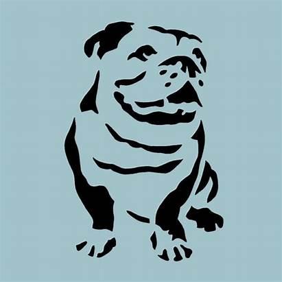 Bulldog Stencil English Plastic