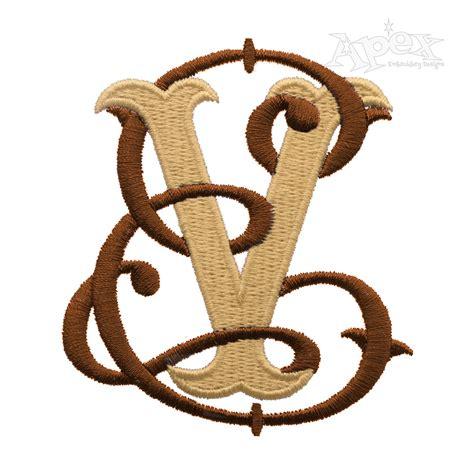 vine fishtail interlocking monogram embroidery font apex embroidery designs monogram fonts