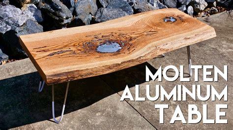 molten aluminum  edge lake coffee table  diy