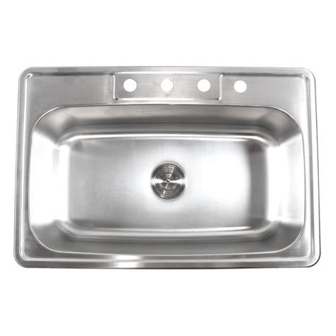 best gauge for stainless steel sink 33 inch stainless steel top mount drop in single bowl
