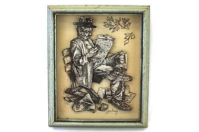 reading racing form still trying jim daly shadowbox 3 d print hobo reading a