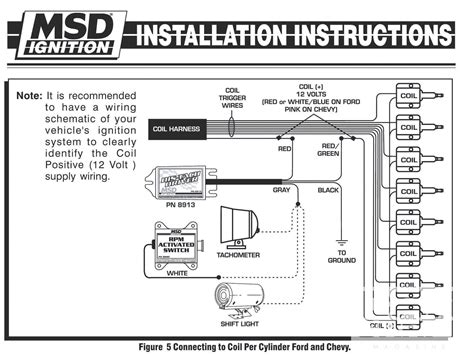 Tach Wire Diagram by Electronic Ignition Tach Install Install A Tach In A Dis