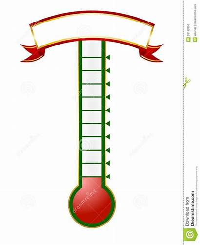 Thermometer Goal Template Printable Editable Clipart Fundraising