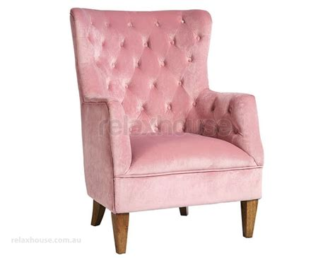 Soft Pink Velvet Tufted Arm Chair