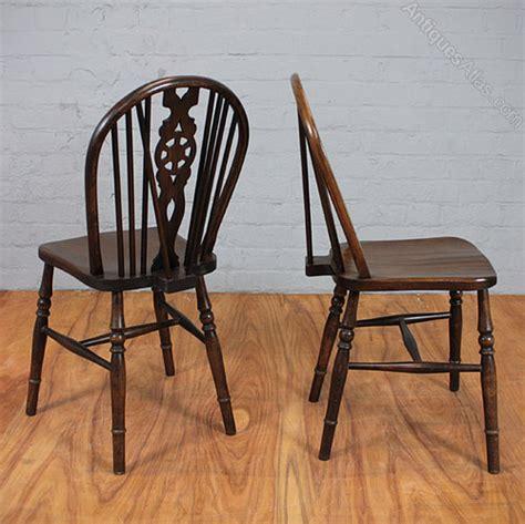 Antiques Atlas  Set Of Oak Wheel Back Chairs