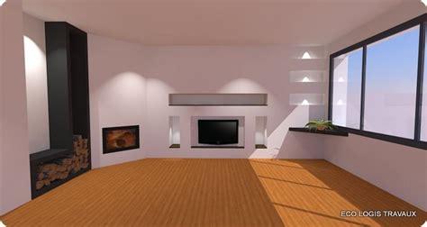la cuisine d herve niches murales design dans le salon eco logis travaux
