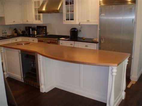 kitchen island butcher block tops copper countertops hoods sinks ranges panels by