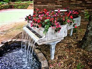 50 Turn an Old Piano Into an Outdoor Water Fountain